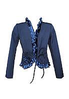 Школьный пиджак на девочку синий