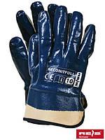 Защитные рукавицы, покрытые нитрилом, заканчивающиеся уплотненной манжетой RECONITFULL G