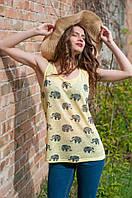 Модная майка со слониками (А.Р.Ж)