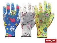 Перчатки защитные, изготовленные из полиестра, покрытые нитрилом RGARDEN-NI MIX