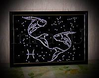 "Картина из страз знак зодиака ""Рыбы"""