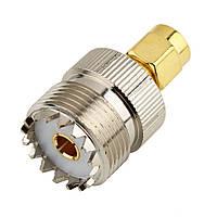Переходник UHF SO-239 (мама female)  - SMA (папа male) разъем коннектор