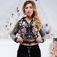 Брендовый турецкий костюм Ronay « Леопард + цветы », фото 1