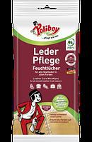 Poliboy Leder Pflege Feuchttücher - Влажные салфетки для чистки и ухода за кожей, 20 шт
