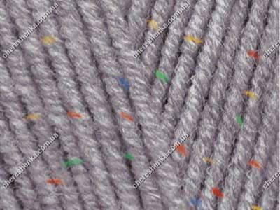 Нитки Alize Cotton Gold Tweed 87 угольный серый, фото 2