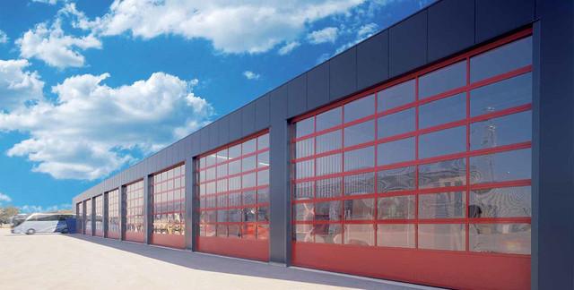 Панорамные промышленные ворота