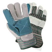 Перчатки защитные комбинированные х/б+спилок усиленные