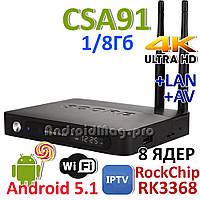 CSA91 Rockchip RK3368 TV Box 8 ядер 1GB/8Gb