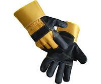 Перчатки комб. Ориол х/б + кожа (твердый манжет)