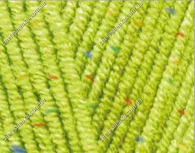 Нитки Alize Cotton Gold Tweed 612 кислотный, фото 2