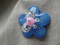 """Магнит """"Цветок""""   ширина 5,0 см.  синий"""
