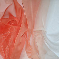 Тюль Микровуаль с переходом белого в оранжевый + высококачественный пошив