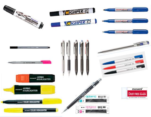 Ручки, карандаши и другие принадлежности