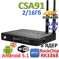 CSA91 Rockchip RK3368 TV Box 8 ядер 2GB/16Gb