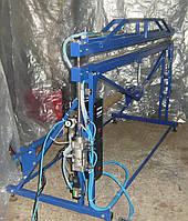Напольный универсальный запайщик  для раскроя и изготовления пакетов из плёнки импульсного нагрева с пневмопри