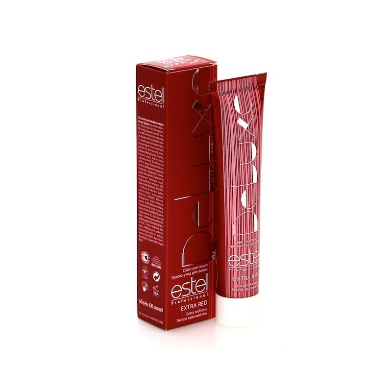 77/44 Русий мідний інтенсивний Estel De Luxe Extra Red Крем-фарба для волосся 60 мл