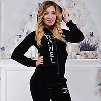 Черный брендовый турецкий костюм Ronay с логотипом «Chanel», фото 1