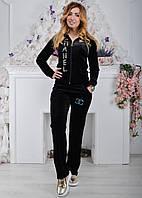 Черный брендовый турецкий костюм Ronay с логотипом «Chanel»