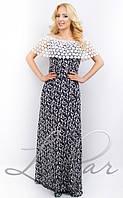 Кружевное длинное платье 678
