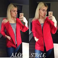 Пиджак - тренчкот модный яркий в разных цветах SRA88