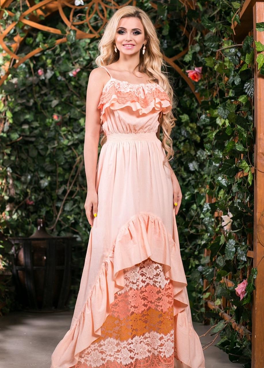 Платье в пол из натуральной ткани