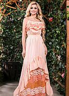 Платье в пол из натуральной ткани, фото 1