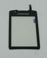 Оригинальный тачскрин / сенсор (сенсорное стекло) для Samsung Monte S5620 (черный цвет, самоклейка)