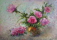 «Розы - нежность в каждом лепестке» картина маслом