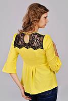 Молодежная желтая блузка