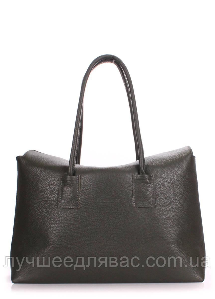 Кожаная сумка POOLPARTY Sense -khaki, фото 1
