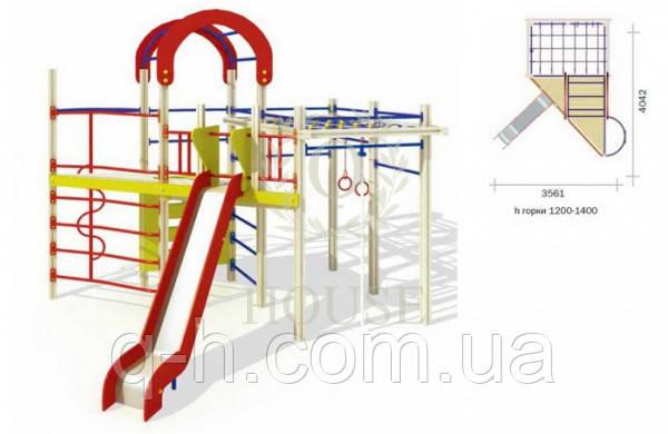 Комплекс гимнастический с горкой, фото 2