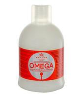 Восстанавливающий шампунь с комплексом Омега-6 и маслом макадамии Kallos Cosmetics Omega Hair Shampoo 1000 мл к1152