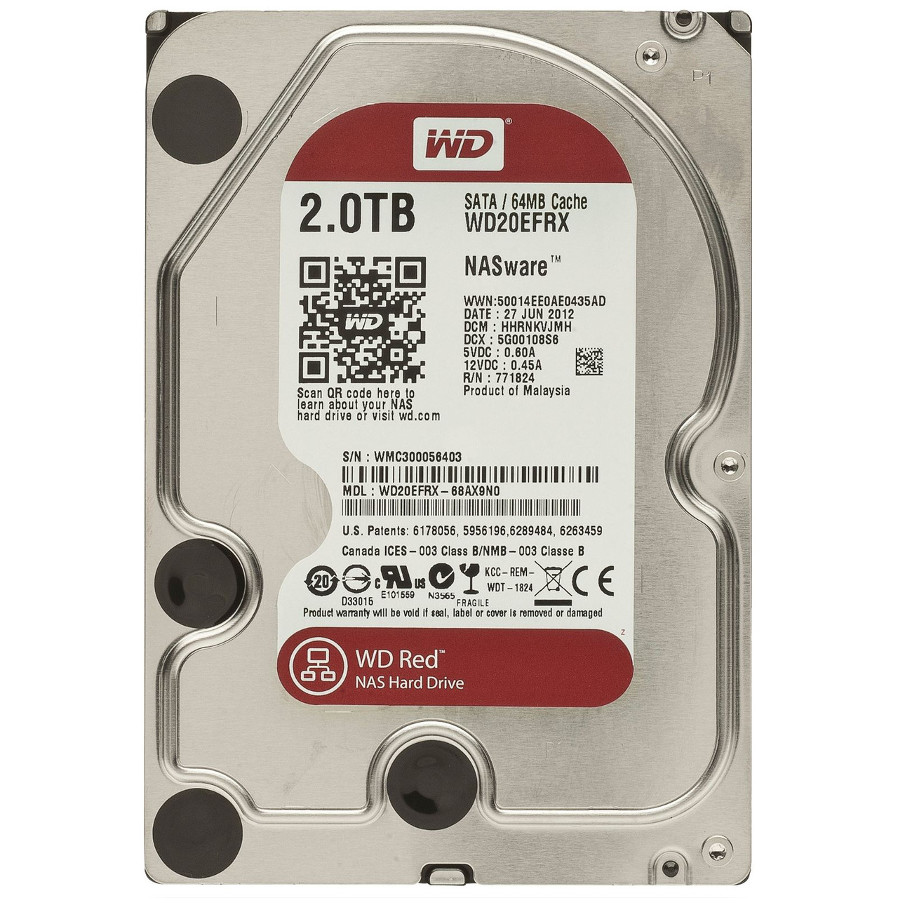 "Жесткий диск Western Digital WD20EFRX 2TB 3.5"" Б/У ""Over-Stock"""