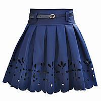 Нарядная школьная юбка для девочки с перфорацией. Лазер.