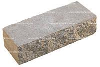 Кирпич широкий декоративный, рваный коричневый, красный, оливковый, желто-оливковый, серый (на сером цементе)