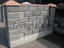 Блок декоративный 400х200х120  4ф для забора