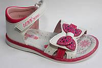 Босоножки для девочки с розовым бантиком