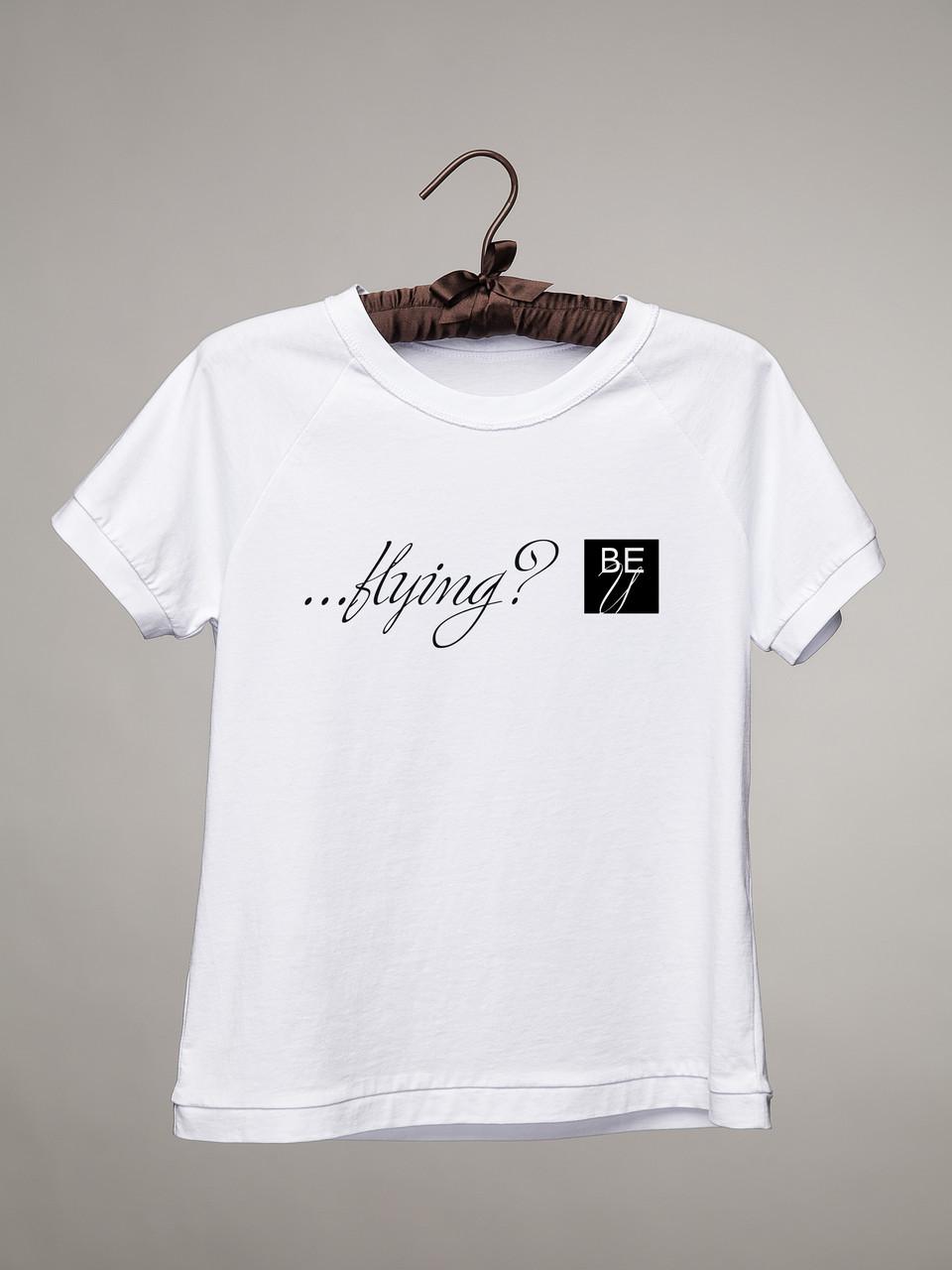 Белая футболка #Flying
