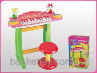 Синтезатор пианино со стульчиком на ножках для детей 3125A