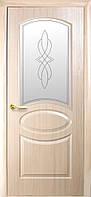 Межкомнатные двери Фортис DeLuxe R ОВАЛ Р1 (золотая ольха, каштан, ясень)