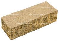 """Кирпич декоративный широкий тычковой """"ЭЛИТ"""" на белом цементе (желтый,бежевый,белый,черный)"""