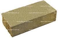 Кирпич широкий декоративный тычок коричневый, красный, оливковый, серый на сером цементе