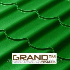 Металлочерепица Grand Гранд 0,45мм матовый полиэстр Италия (Arvedi). Гарантия 15 лет!