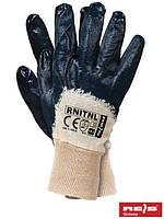 Защитные перчатки, покрытые нитрилом, отделанные резинкой RNITNL BEG