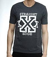 Футболка Ястребь Straight Edge антрацитовая S