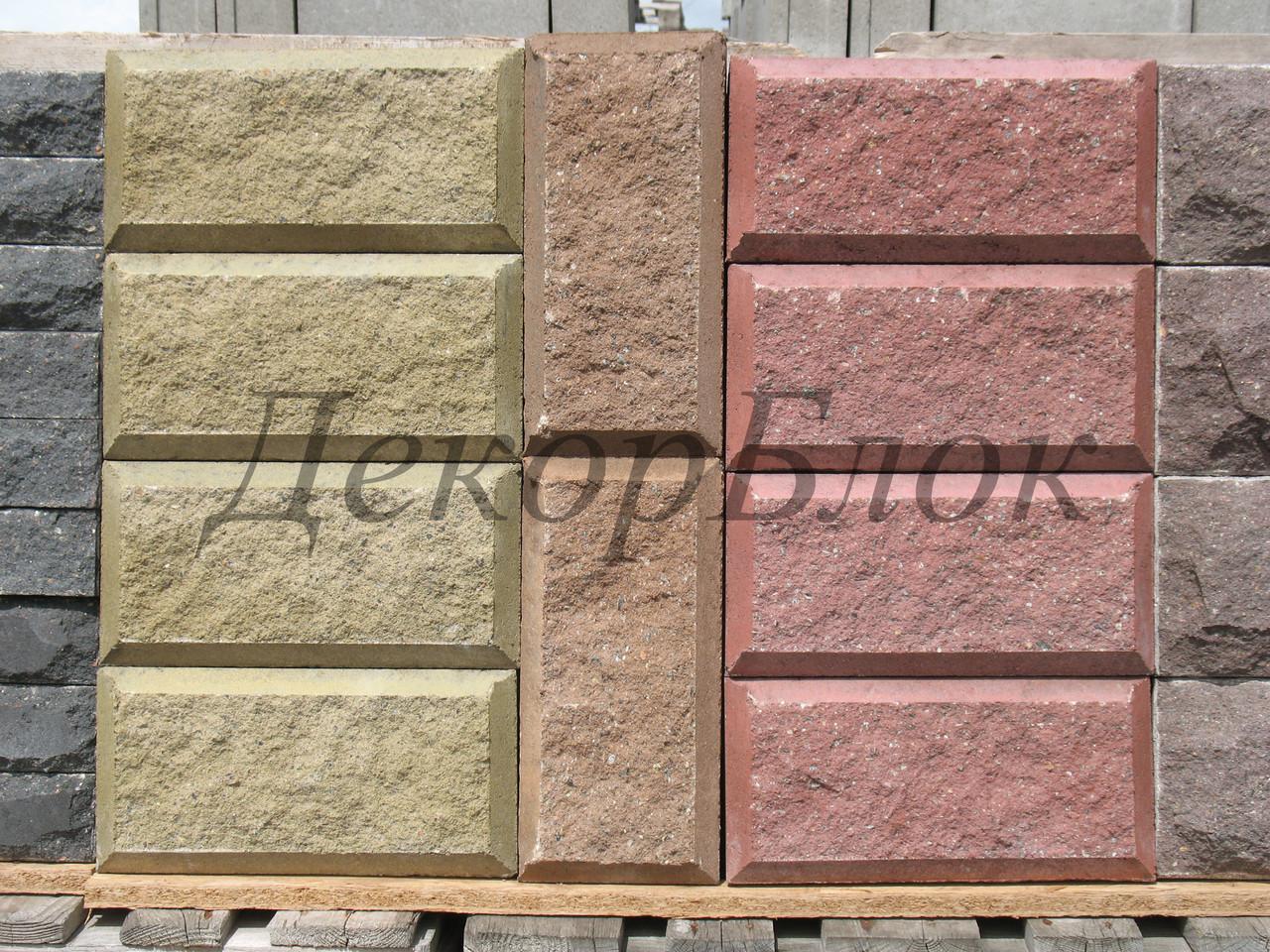 Блок декоративный 400х200х100  4ф для забора