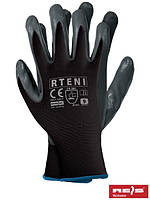 Защитные рукавицы изготовленные из полиэстера, покрытые нитрилом RTENI BS