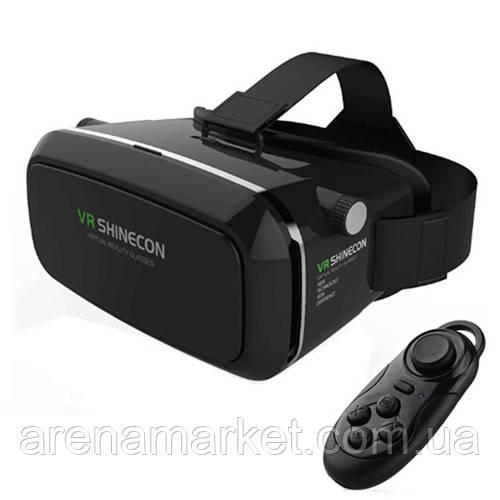 VR SHINECON виртуальные очки 3D для смартфона +  мини геймпад для телефона