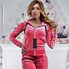 Женский спортивный турецкий костюм Ronay «Кубики»,раз 42 по 48, 2 цвета.