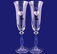 Набор: 2 свадебных бокала для шампанского, в подарочной коробке Suggest. арт.A1070A190
